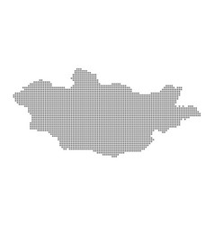 pixel map of mongolia dotted map of mongolia vector image