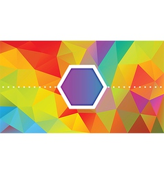 Polygon design Abstract background vector image