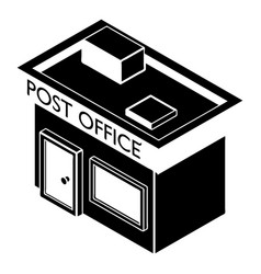 post office icon simple style vector image