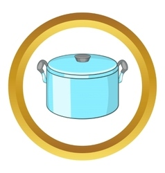 Pot with lid icon vector
