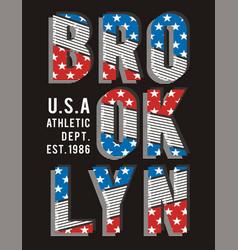 retro brooklyn typography design vector image