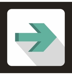 Right arrow on white background icon flat style vector image