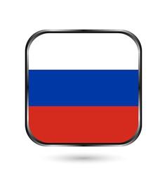 Russia flag button vector