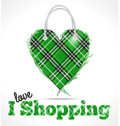 sale bag in green colors on white vector image