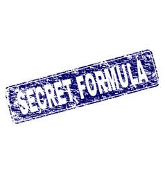 Scratched secret formula framed rounded rectangle vector