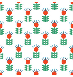 seamless folk art pattern background with vector image