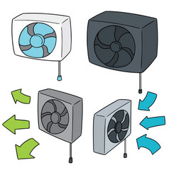 set of ventilating fan vector image