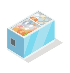 Showcase Refrigerator for Cooling Food Fridge vector