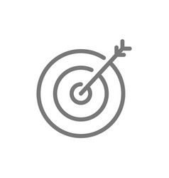 simple target with arrow line icon symbol and vector image