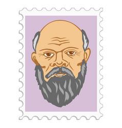 Socrates ancient greek philosopher vector