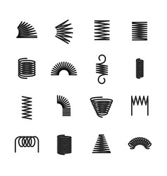 Steel spring flexible iron spirals parts vector