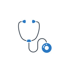stethoscope related glyph icon vector image