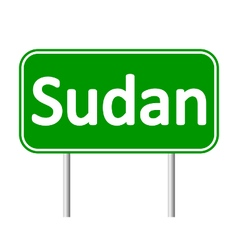 Sudan road sign vector