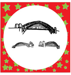 sydney harbour bridge australia hand drawn doodle vector image