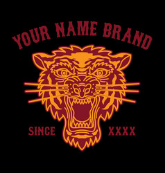 Tattoo tiger head logo for clothing vector