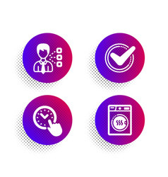Time management third party and confirmed icons vector