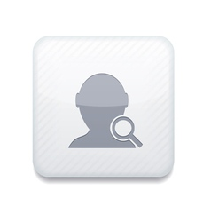 white search friend icon Eps10 Easy to edit vector image