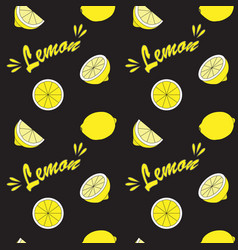 yellow lemon on black field vector image