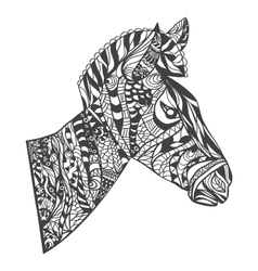 Zentangle style Zebra Head vector