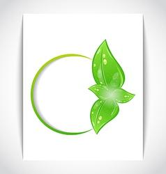 Round frame leaf elements vector image vector image