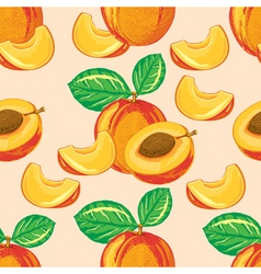 seamless pattern of ripe peach vector image vector image