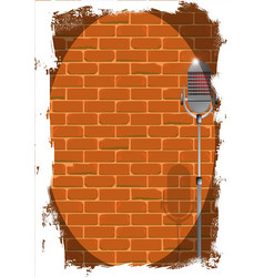 stand up night wall grunge vector image