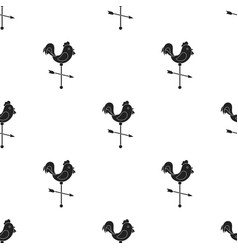 weather vane icon in black style isolated on white vector image