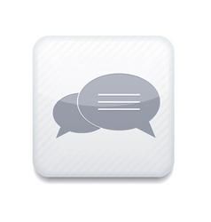 white Bubble speech icon Eps10 Easy to edit vector image
