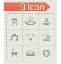 Bed icon set vector image vector image