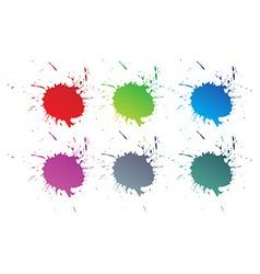 color paint splashes vector image
