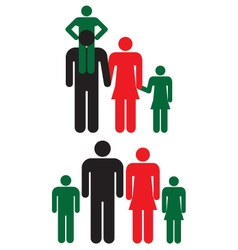 Family icons Man woman and children vector image vector image