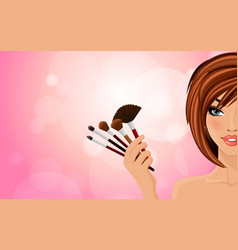 Make up background vector image vector image