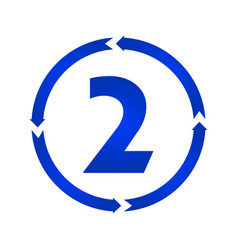 number 2 icon vector image