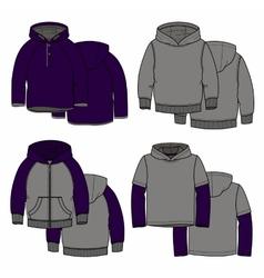 Purple hoodies vector image vector image
