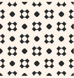 seamless pattern with circles and crosses vector image vector image