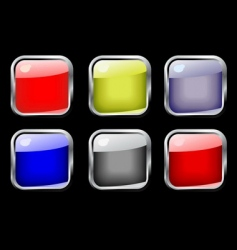 set of color glossy buttons vector image