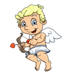 Little cupid flying 2 vector image
