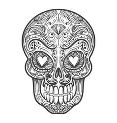 sugar skull tattoo vector image