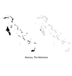 1019 nassau bahamas vector image