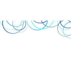 abstract blue circles on white vector image