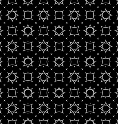 Arabic style black and white seamless pattern vector