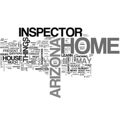arizona home inspector text word cloud concept vector image