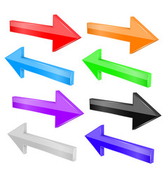Back and next arrows colored set vector