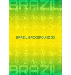 Background using Brazil flag colors 2016 A4 size vector image