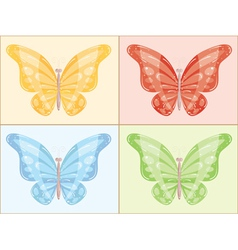 bright beautiful butterflies of different colors g vector image