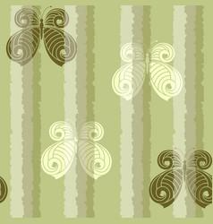 butterflies pattern vector image