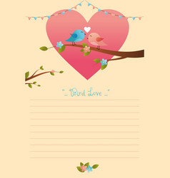 card of birds in love vector image