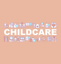 childcare word concepts banner vector image