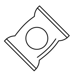 Chips pack icon outline style vector