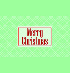 christmas card on green background vector image